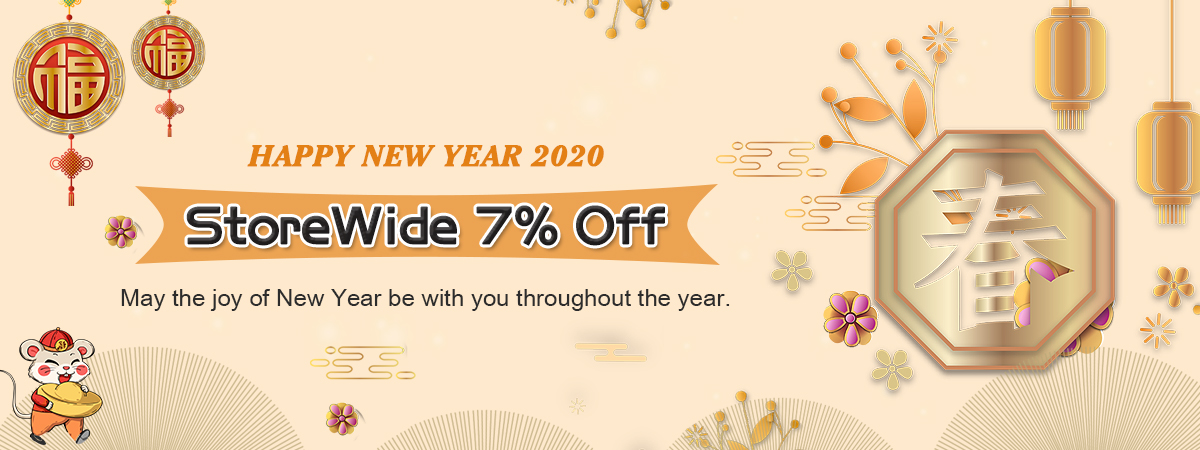 Happy New Year 2020  StoreWide 7% Off