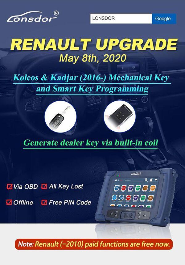 Lonsdor K518 Renault Upgrade