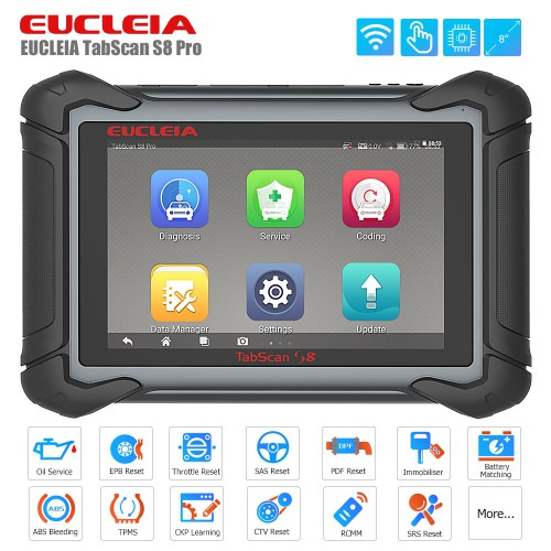 [11-11 Sale ] EUCLEIA TabScan S8 Pro Automotive Intelligent Dual-mode Diagnostic System
