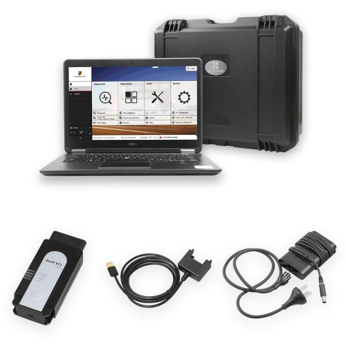 OEM Porsche Piwis 3 Tester III Diagnostic Tool Piwis3 V38.4 PT3G with 240G SSD and DELL Laptop