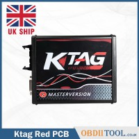 [UK SHIP] EU Version Ktag 7.020 Red PCB Firmware New 4 LED Latest V2.25 No Token Limited Support Full Protocols