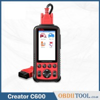 Creator C600 Multi-System Scanner Car Diagnostic Tool With OBDII software