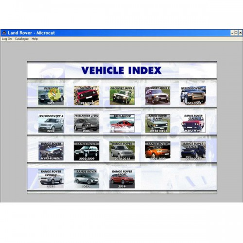 2013.07 Microcat Electronic Parts Selling System for Land Rover