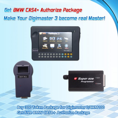 Buy 200 Token Package for Digimaster 3/CKM100 Get Free CAS4+ Authorize for BMW Package
