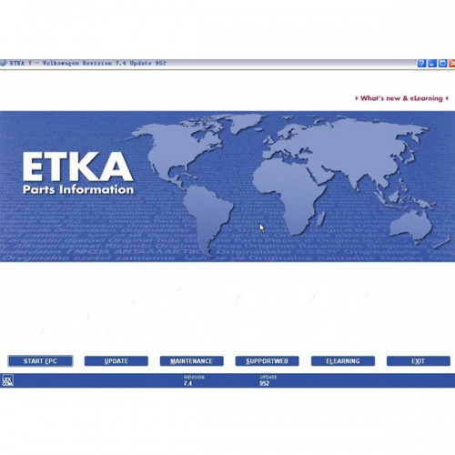 V7.5 ETKA Electronic Catalogue For Audi VW Seat Skoda Multi-language send by CD