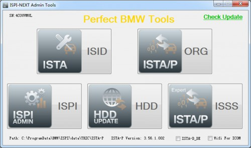 V2015.7 ICOM 256GB SSD ISTA-D 3.50.10 ISTA-P 3.56.1.002 for BMW support Win8 system English and German language