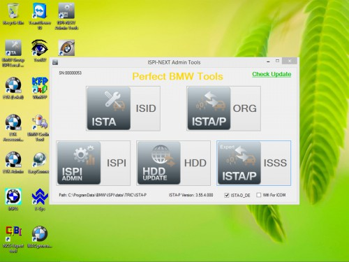 V2015.6 ICOM HDD for BMW ISTA-D 3.49.30 ISTA-P 3.55.4.000 support Win8 system Multi-language