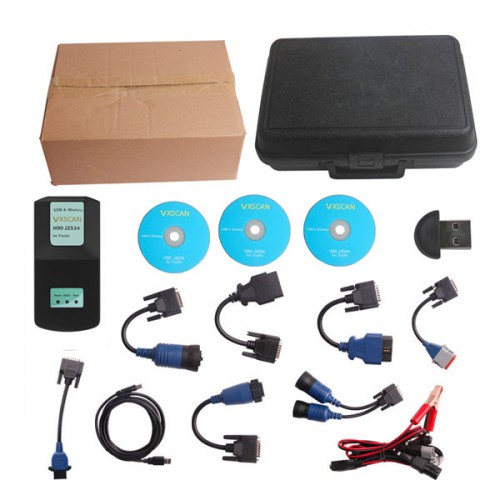 VXSCAN H90 J2534 Diesel Truck Diagnose Bluetooth Interface with Cummins INSITE 8.5 Software Same Function as NEXIQ