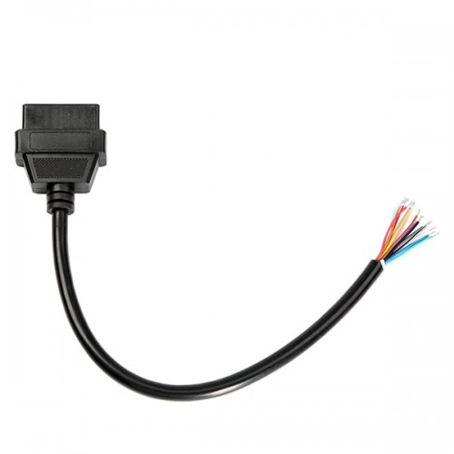 OBD2 16pin Female Connector to Open OBD Cable Free Shipping