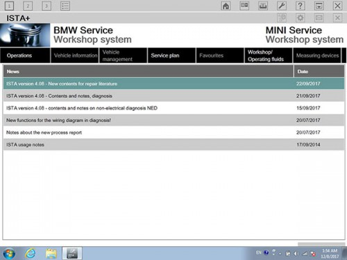 V2018.03 BMW ICOM Software ISTA-D 4.09.13 ISTA-P 3.63.2.001 Engineering Mode Windows 7 HDD
