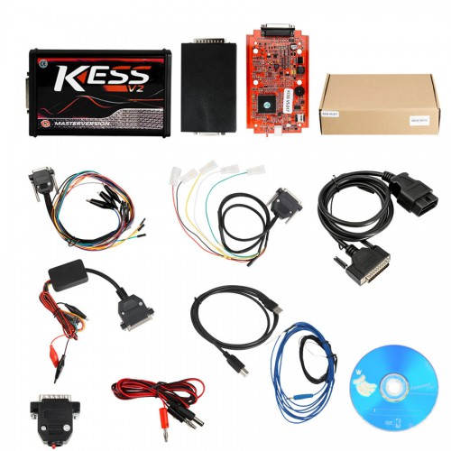 [UK SHIP]Online Version Kess V5.017 with red PCB Support 140 Protocol No Token Limited