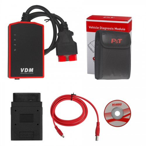 Original WIFI UCANDAS VDM V3.84 full system Automotive Diagnosis Support Win7 WIN8 Andriod 4.0 with Honda Adapter