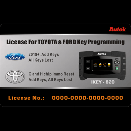 Autek IKEY-820 Key Programmr License For 2018 Ford and Toyota(G and H chip)