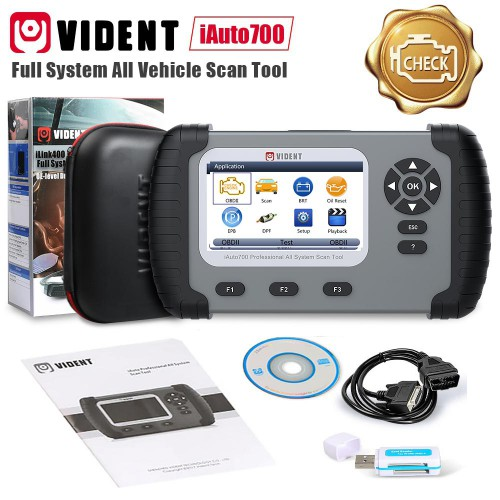 Original VIDENT iAuto700 All System Scan Tool With Service Functions Including Oil Light Reset/EPB Service/Battery Configuration