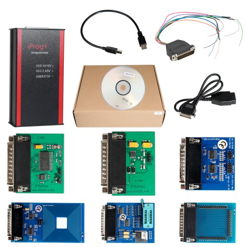 [UK SHIP] V84 Iprog Pro IMMO ECU MCU Dashboard and Airbag Programmer + Probes adapted for IPROG