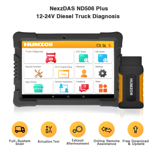 Humzor NexzDAS ND506 PLUS Full Version 10 inch With VCI