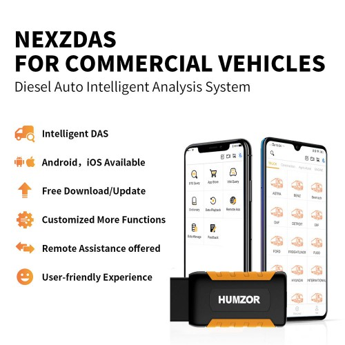 Humzor NexzDAS ND506 Auto Full System Intelligent Diagnosis Tool For Diesel And Heavy Duty