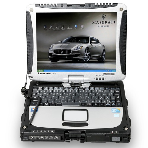 Maserati MDVCI Diagnostic Tool + Second-hand CF19 Laptop Full Kit with Maintenance Data Software Installed Supports Programming