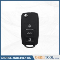 XHORSE XNB510EN Folding Universal Remote Key B5 Style 3 Buttons for VVDI Key Tool, VVDI2(English Version) 10 pcs/lot