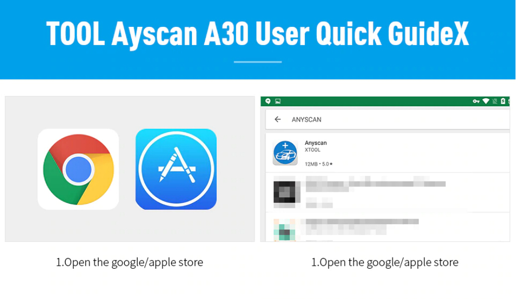How to use XTOOL Anyscan A30