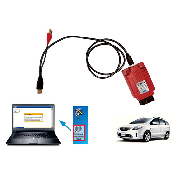 How to connect SVCI J2534 with laptop and vehicle?