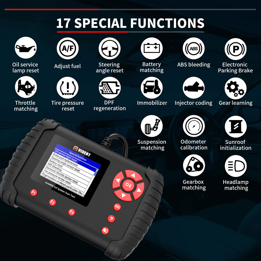 VIDENT iLink400 Special functions