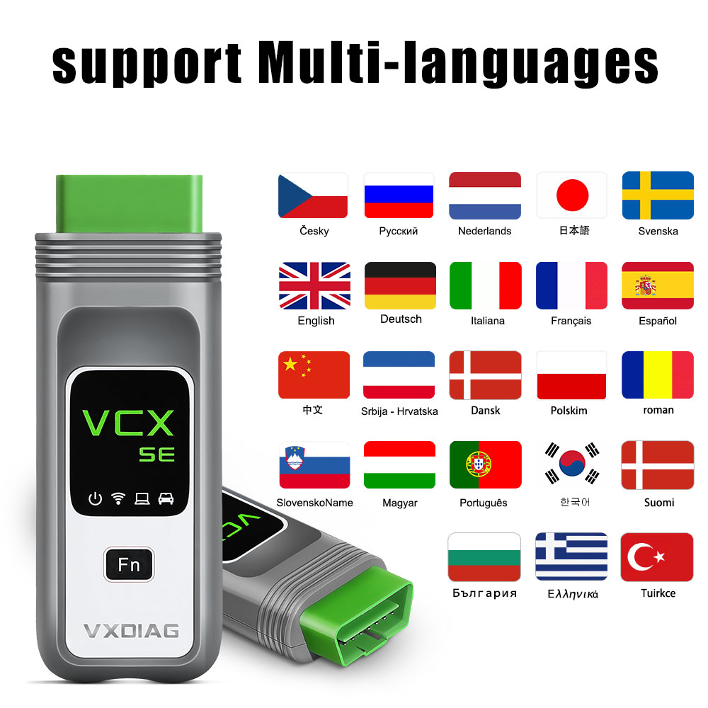 VXDIAG VCX SE For Benz obd2 scanner language